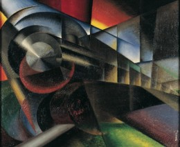 Ivo Pannaggi. Speeding Train (Treno in corsa), 1922.