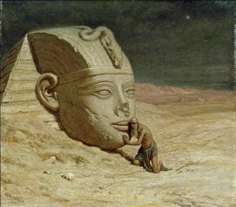 "Elihu Vedder, ""Questioner of the Sphinx,"" 1875"