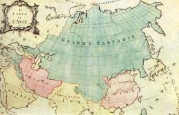 Karte Eurasiens von 1771. Ein Großteil des heutigen Rußlands wird Groß-Tatarstan genannt.