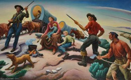 "Thomas Hart Benton, ""Independence and the Opening of the West,"" 1961"