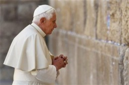 Pope Benedict at the Kotel