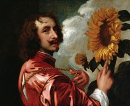 "Anthony Van Dyck, ""Self Portrait With a Sunflower,"" after 1633"