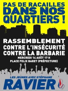 """""""No Thugs in our Neighborhoods!"""" Rally against Insecurity and Barbarity The Youth with Stéphane Ravier"""