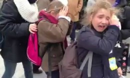 Children affected by tear gas fired upon peaceful protesters at the Manif Pour Tous last year.