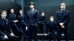 Germany's World Cup victors. Clothes by Hugo Boss.