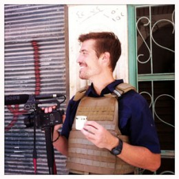 James Foley, Aleppo, July, 2012, with his weapon of choice