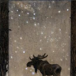 'Älgtjur' av John Bauer.