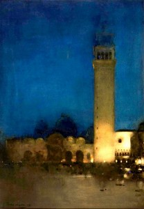 Arthur Melville, The blue night, Venice