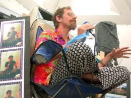 Erik Davis lecturing at Burning Man in 2003