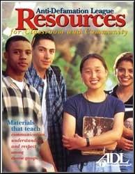 [Image: le catalogue des «Ressources pour la communauté et la salle de classe» de la Ligue Anti-Diffamation juive]