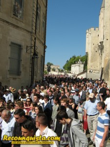 Anti-Piss Christ March in Avignon, on April 16th 2011, the day before the destruction of the Piss Christ