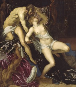 Tintoretto, Tarquin and Lucretia, circa 1580