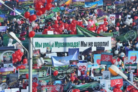 Chechen demonstrators