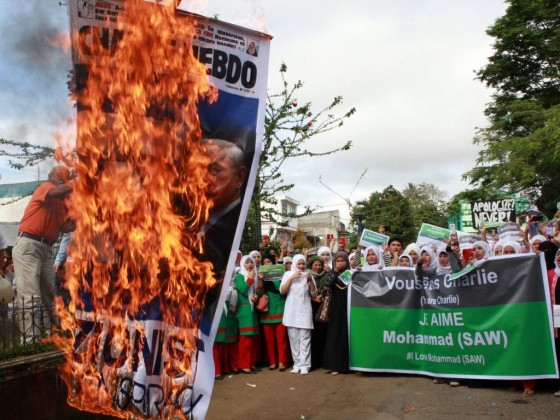 Anti-French protest in the Philippines