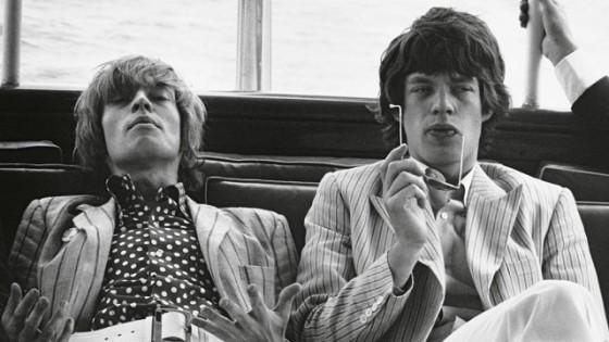Brian Jones and Mick Jagger