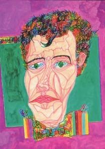 Bowden, Jonathan - Venus Fly-Trap 1 (detail, showing self-portrait)