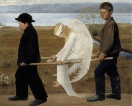 Hugo Simbert, The Wounded Angel, 1903