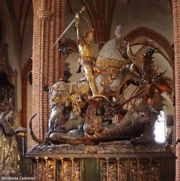 Saint George and the Dragon, Stockholm Cathedral