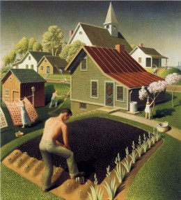 Grant Wood, Spring in Town, 1942