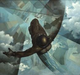 Tullio Crali. prima che si apra il paracadute, 1939. Casa Cavazzini, Galleria d'Arte Moderna e Contemporanea di Udine.