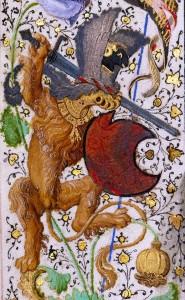 'Gillion de Trazegnies', Flanders after 1464 (LA, The J. Paul Getty Museum, Ms. 111, fol. 36v)