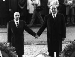 François Mitterrand and Helmut Kohl