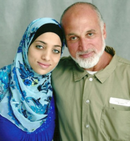 Ghassan Elashi (R) Born in Gaza in 1953, he was educated in Egypt and created the first Arabic computer. He was the head of the Holy Land Foundation and is serving a 65 year sentence. His daughter Noor works tireslessly for his early release.