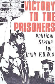Poster produced by the Support Republican Prisoners Campaign, another Sinn Fein/IRA front group