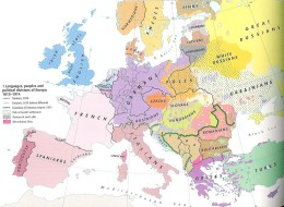 Languages, peoples and ethnopolitical divisions of Europe 1815-1914
