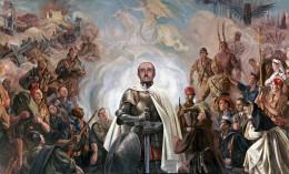 Arturo Reque Meruvia «Kemer»: Alegoría de Franco y la Cruzada (1948 - 1949)