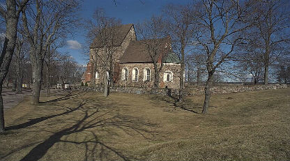 Old Uppsala Church, under which are believed to lie the remains of the heathen temple described by Adam of Bremen