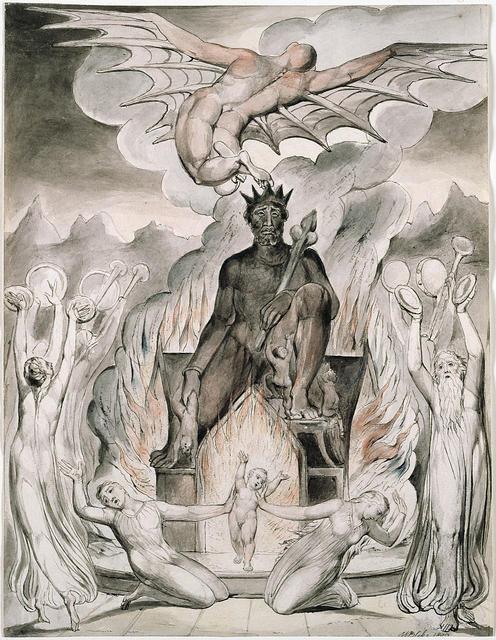 Crtež Williama Blakea – Žrtvovanje djece Molochu (političke korektnosti, prim. ur.)