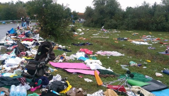 The litter left behind by allegedly poor refugees