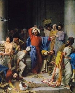 Carl Heinrich Bloch, Jesus Casting out the Money-Changers, 1834-1890