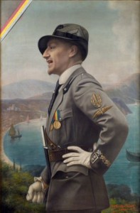 Enrico Marchiani, Portrait of Gabriele d'Annunzio in Arditi Uniform