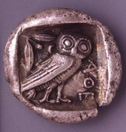 Greek, Silver tetradrachm, minted in Athens, c.460-455 BC
