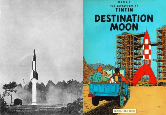 V-2 rocket and the 1953 comic book.