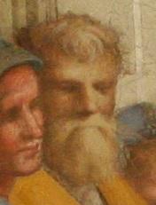 Epicurus (?) in Raphael's School of Athens