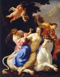 Simon Vouet, The Rape of Europe, circa 1640