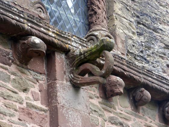 Figure 16: Kilpeck, Herefordshire, crocodile swallowing hydra