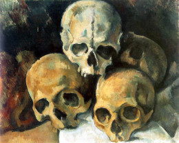 Paul Cézanne, Pyramid of Skulls, circa 1901