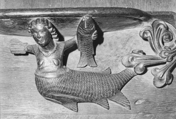 Figure11: Exeter Cathedral Mermaid