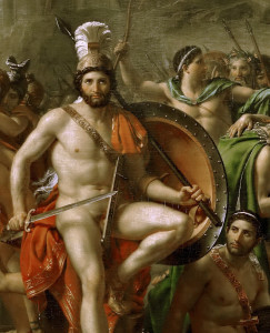 Jacques-Louis David, Leonidas at Thermopylae, 1914, detail