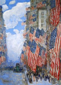 """Childe Hassam, """"The Fourth of July, 1916."""" 1916"""