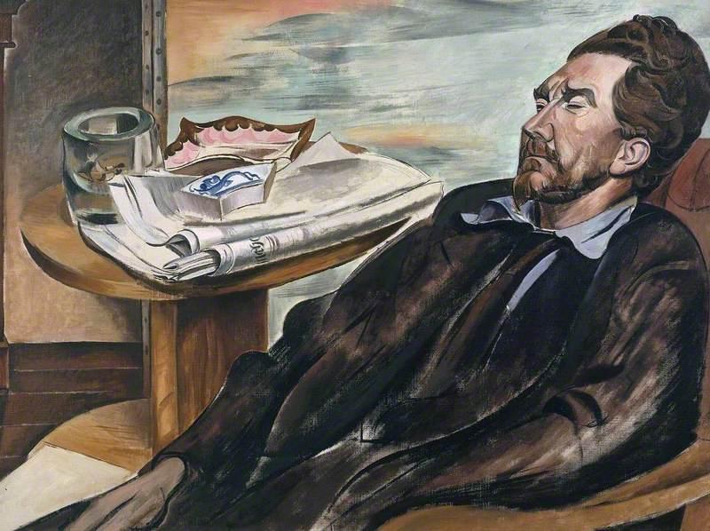 Ezra Pound by Wyndham Lewis