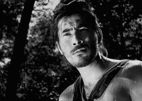 Toshiro Mifune as Tajomaru, the bandit