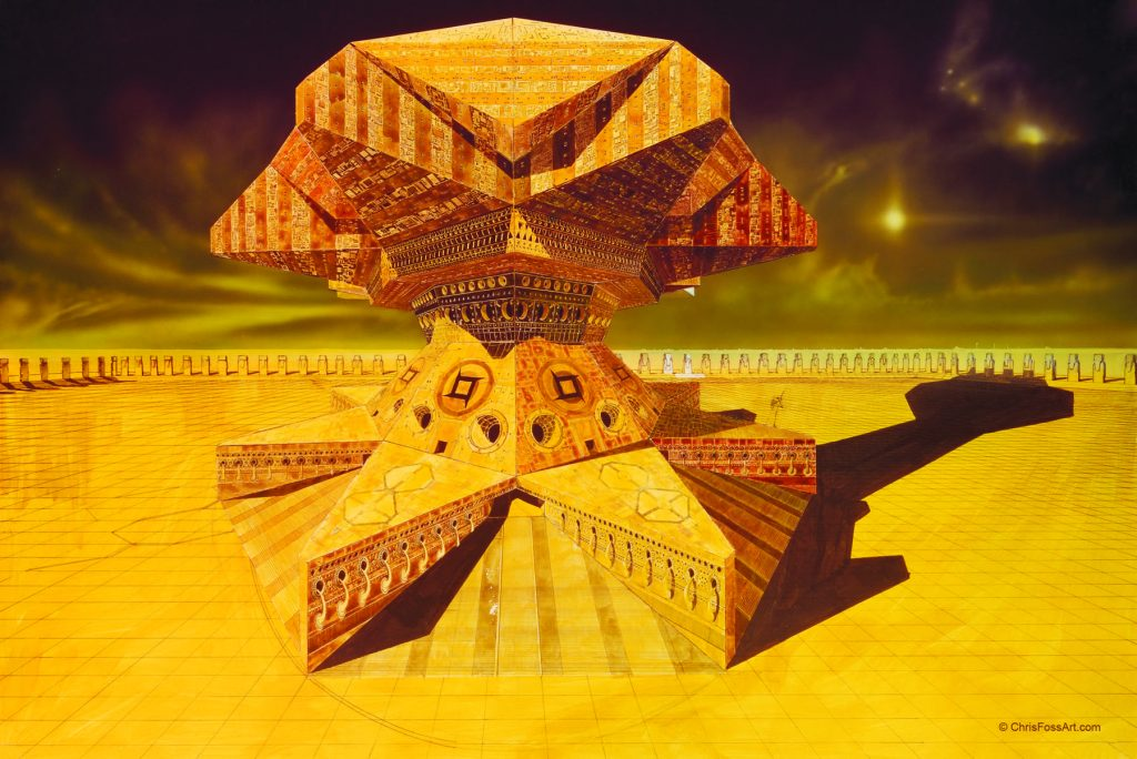 Chris Foss design for Shaddam's traveling palace