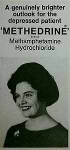 An early advertisement for methamphetamine hydrochloride.