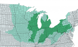 Counties considered part of the US Rust Belt.