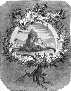 Friedrich Wilhelm Heine's painting The Ash Yggdrasil, 1886.